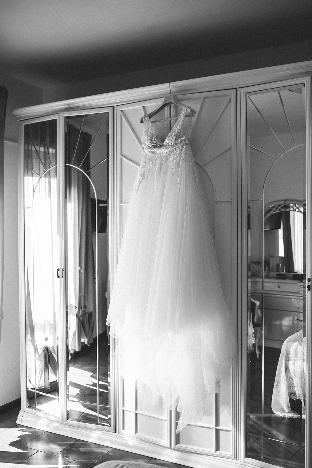 The bride's dress