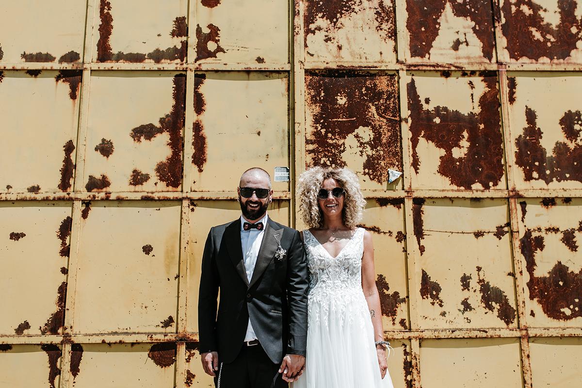 A rock 'n roll wedding