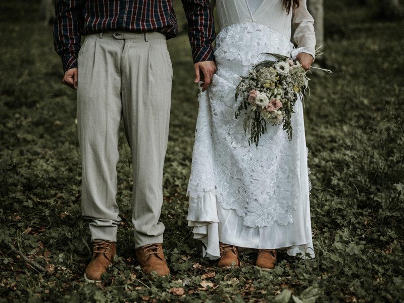 Un post wedding in stile retrò
